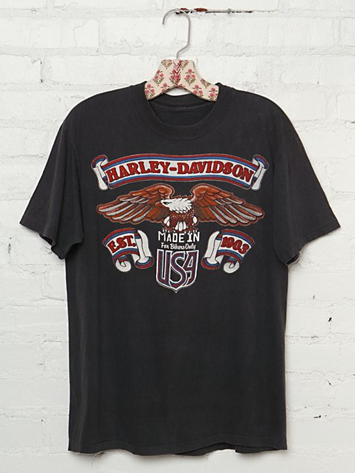 "Vintage Harley Davidson ""Made in USA"" Graphic Tee in Vintage-Loves-vintage-tees"