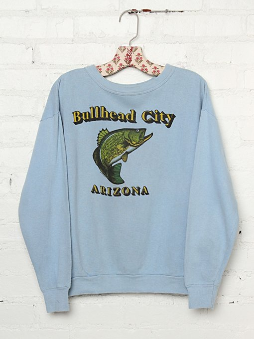 Free People Vintage Bullhead City, Arizona Graphic Pullover in Vintage-Tops
