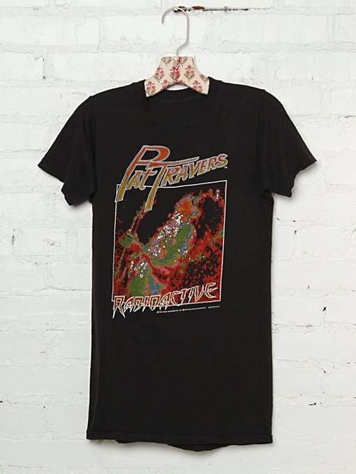 "Free People Vintage Pat Travers ""Radioactive"" Tee in Vintage-Tops"