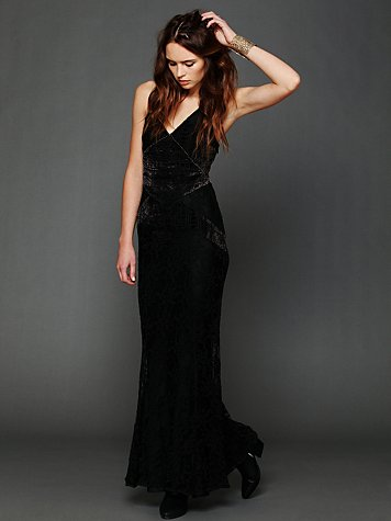 Free People Phantom Burnout Lace Maxi