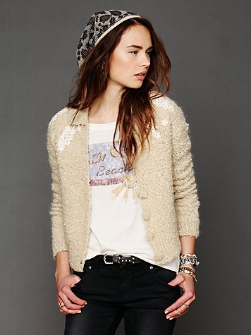 Free People Winter Garden Cardigan
