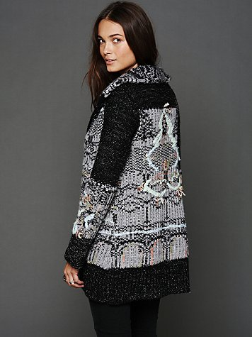 Free People Christmas Tree Back Cardigan