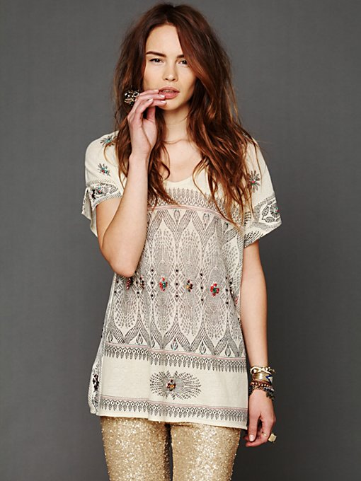 Free People FP New Romantics Byzantine Dreams Tunic in oversized-sweaters