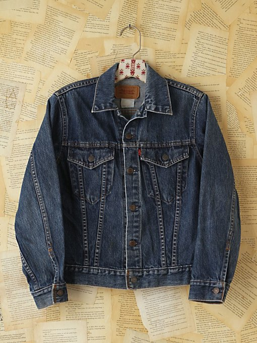 Free People Vintage Levi's Distressed Denim Jacket in vintage-jeans