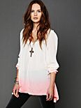 Dip Dye Long Sleeve Tunic