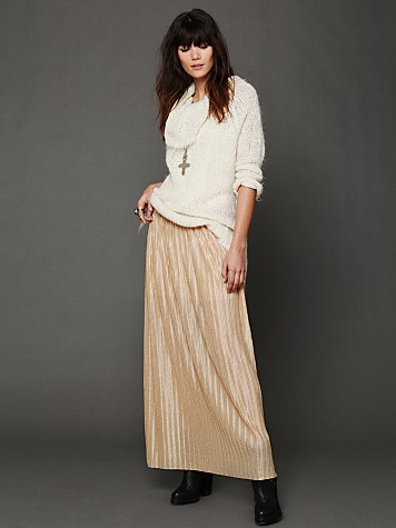 Elena Metallic Maxi Skirt