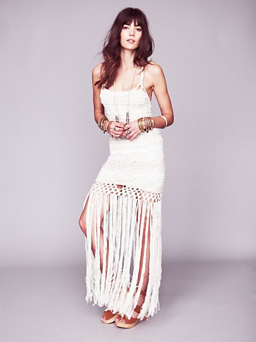 Free People Debbie's Limited Edition White Dress in white-maxi-dresses