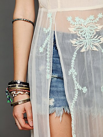 Simply Sheer Embroidered Maxi
