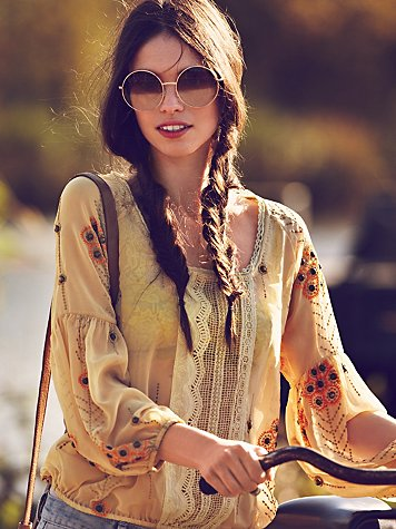 Centered Crochet Blouse
