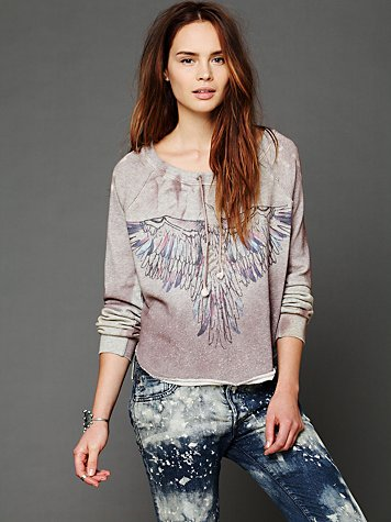 Free People Graphic Pullover