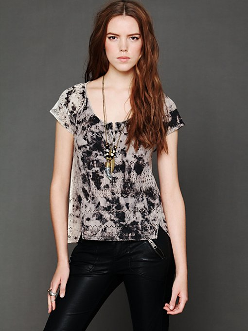 Punched Eyelet Tee in sale-sale-tops