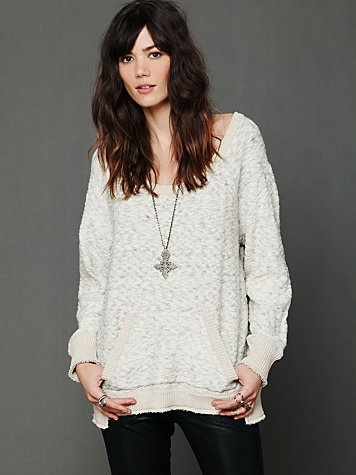 Free People Jersey Trim Pullover