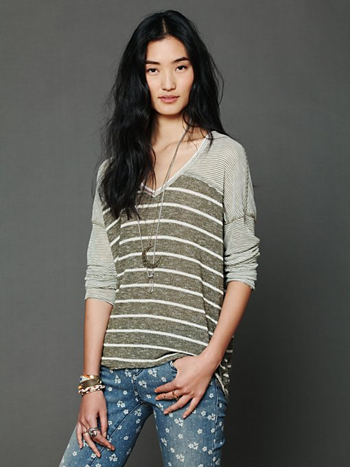 We The Free Hang Ten Top in statement-knits