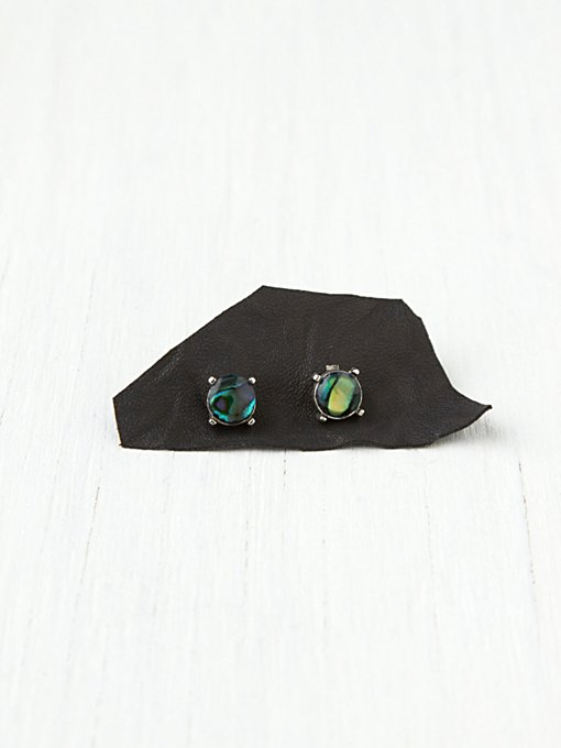 Raw Stone Studs in earrings