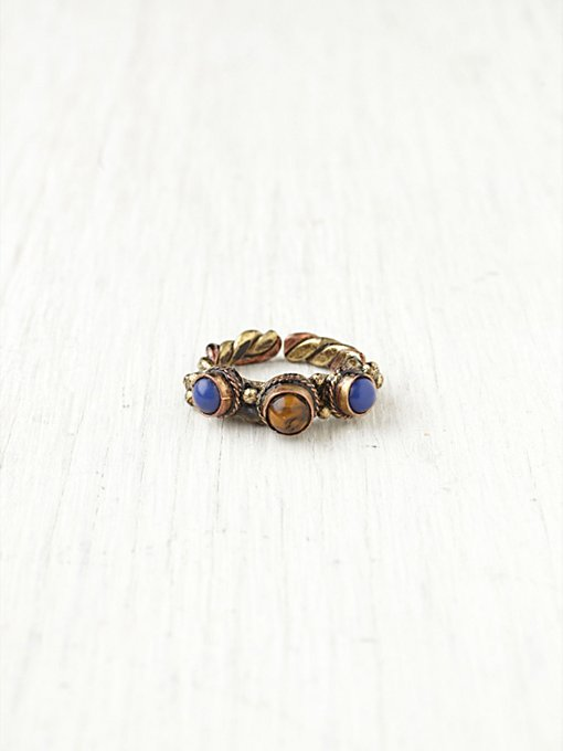 Trio Stone Ring in bohemian-rings