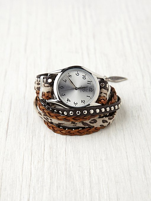 Sara Designs Animal Stud Wrap Watch in Sara-Designs