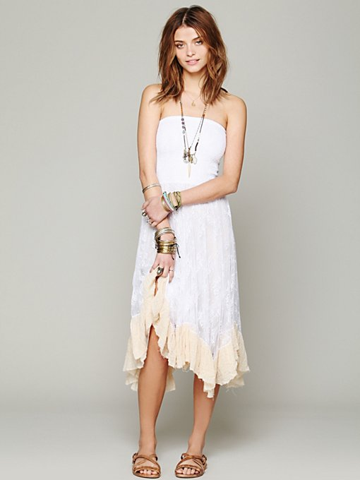 Free People Lace Convertible Slip in lace-dresses