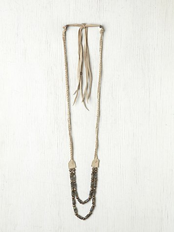 Leather Braided Rodeo Necklace