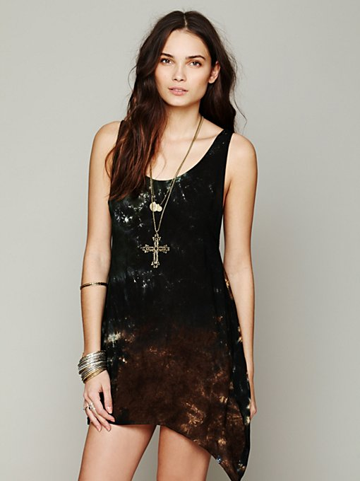 Tallow for Free People  Key Largo Tie Dye Dress in Shift-Dresses