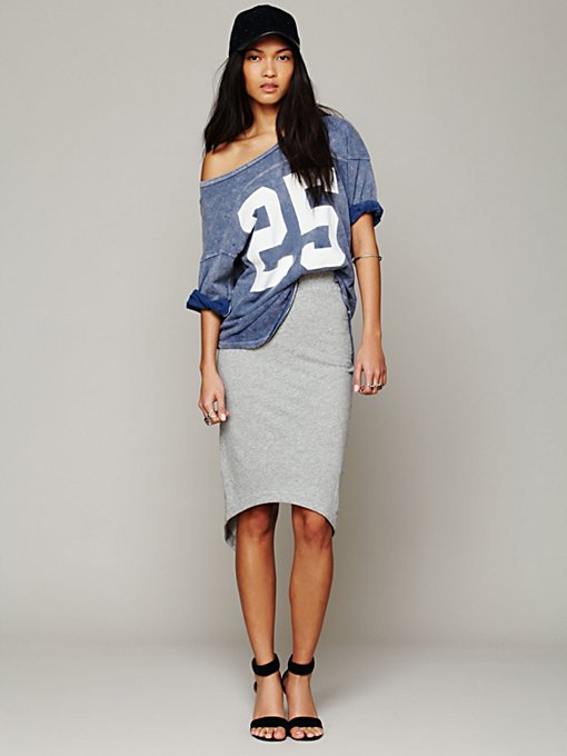 Overlapped Pencil Skirt in clothes-skirts