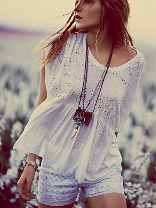 Free People Sweetart Boxy Top in knit-tops