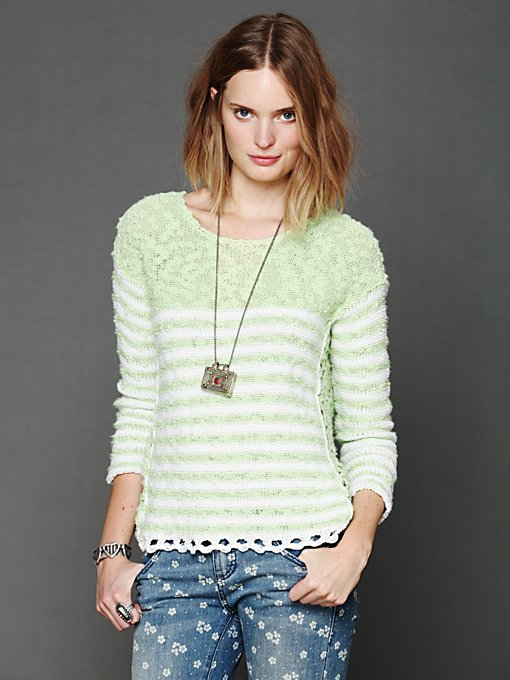 Striped In Crochet Pullover in catalog-dec-12-catalog-dec-12-catalog-items