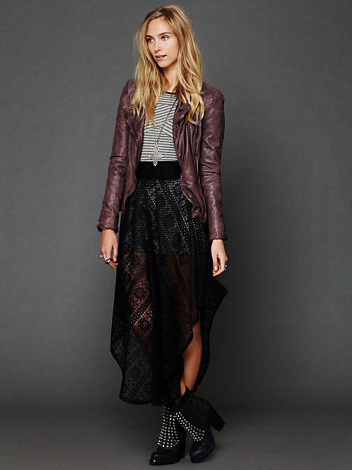Lace Asymmetrical Skirt in written-in-the-stars