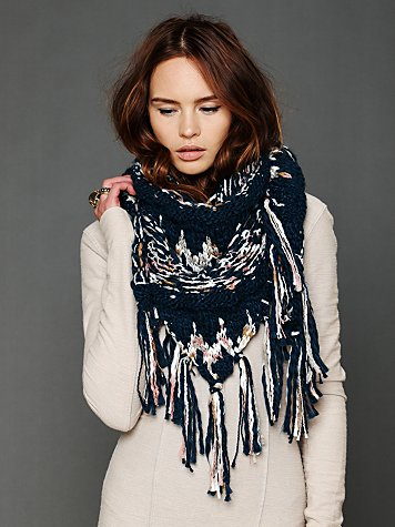 Free People Space Dye Fringe Scarf