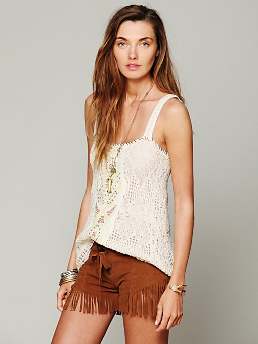 Free People Embellished Cami in designer-brand-clothing