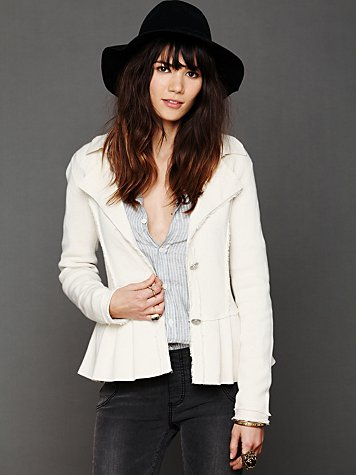 Free People Capital Peplum Jacket