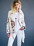 FP New Romantics Embroidered Moto Jacket