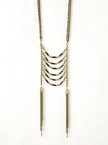 Ladder Fringe Tassel Neck