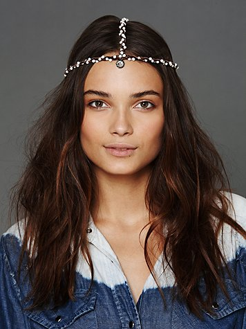 Gypsy Junkies Pearl Leather Headpiece