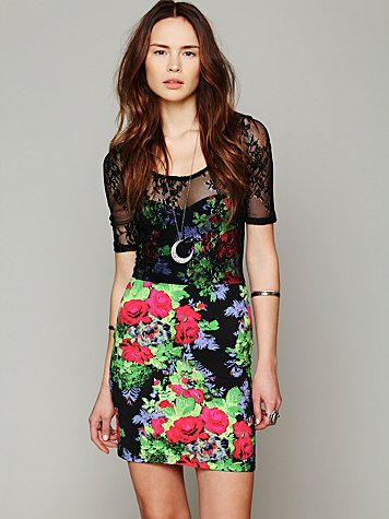 Lace Overlay Bodycon