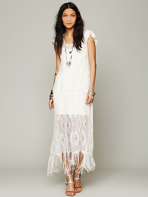 Lindsey Thornburg for Free People  Black Widow Dress in white-maxi-dresses