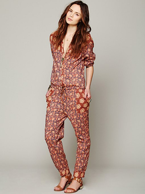 Mixed Florals Jumpsuit
