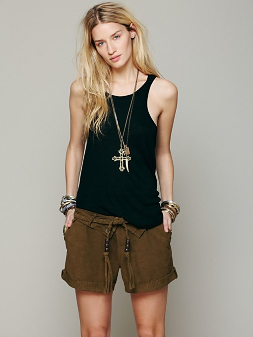 Suede Slouch Short in clothes-shorts-novelty