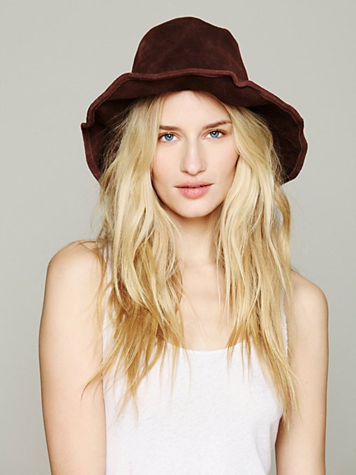 Suede Bohemia Hat in accessories-hats-fedoras-caps