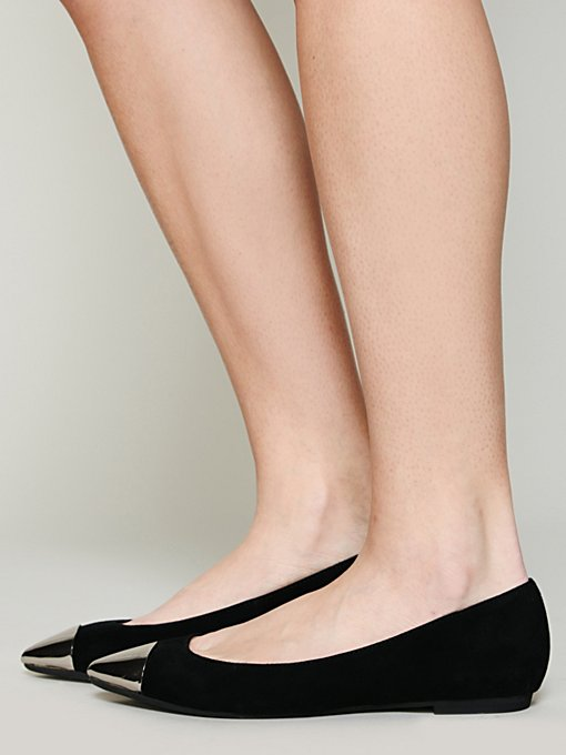 Jeffrey Campbell Vivian Cap Toe Flat in Jeffrey-Campbell-Shoes