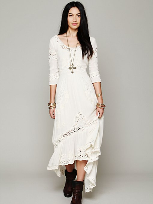 Free People Mexican Wedding Dress in black-maxi-dresses