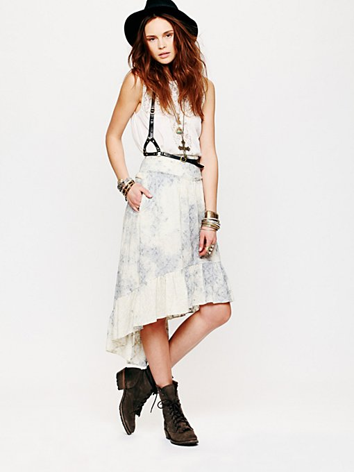 Free People Blue Skies Skirt in white-maxi-dresses