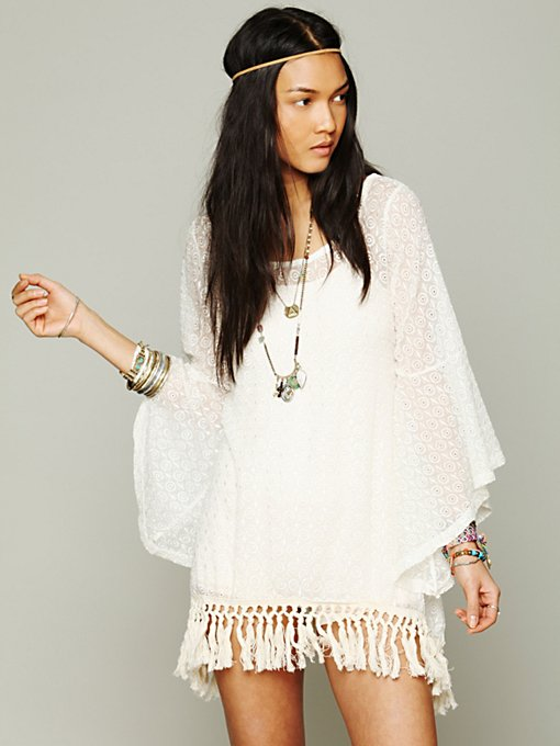 Gypsy Junkies Mimi Fringe Tunic in knit-tops