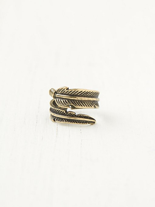 Feather Wrap Ring in boutique-rings-earrings