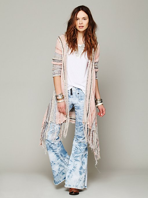 Free People Act of Love Hooded Cardigan in Sweaters