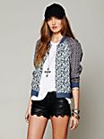 Printed Baseball Jacket
