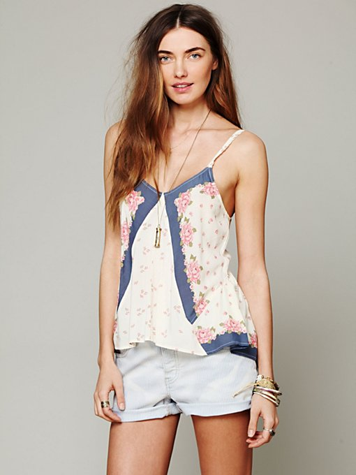 Free People Mixed Print Tank in Party-Tops