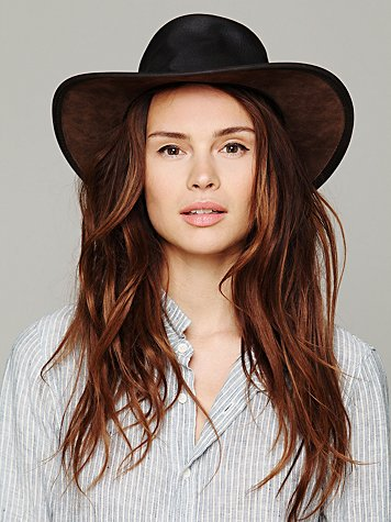 Minnetonka Fold Up Leather Hat