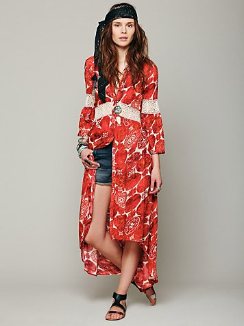 Free People Printed Maxi Tunic
