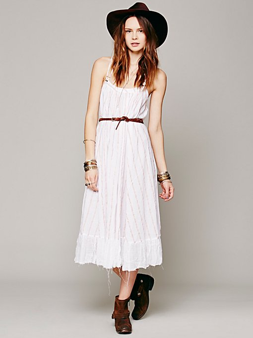 Free People Criss Cross Stripe Maxi in white-maxi-dresses