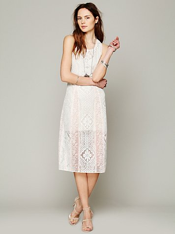 Free People Miracle Lace Midi Dress